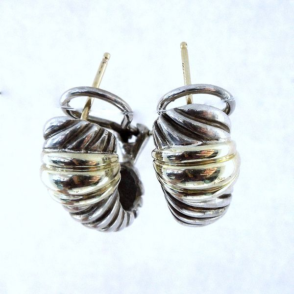David Yurman Two Tone Earrings Joint Venture Jewelry Cary, NC