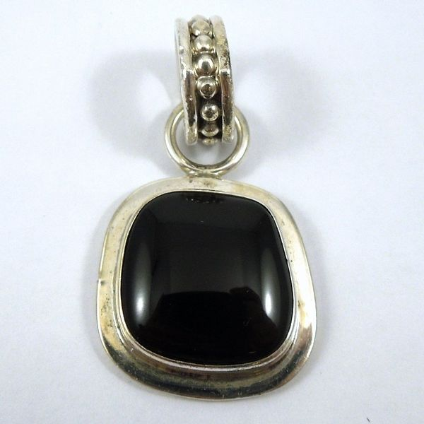 Sterling & Onyx Pendant Joint Venture Jewelry Cary, NC