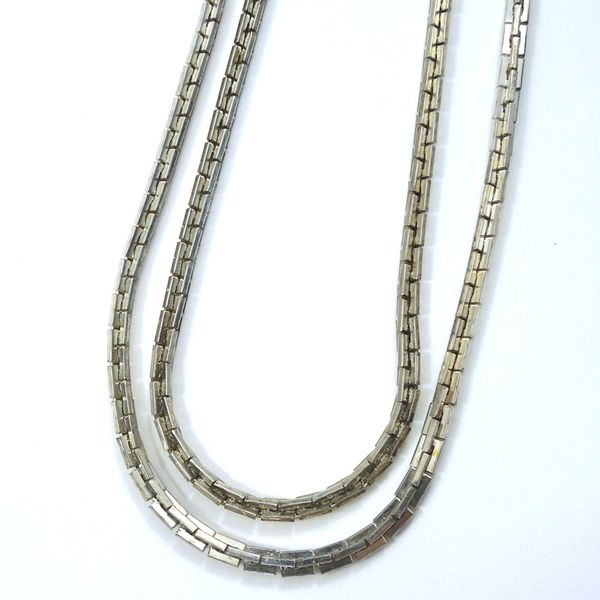 Tiffany & Co. Double Chain Necklace Joint Venture Jewelry Cary, NC