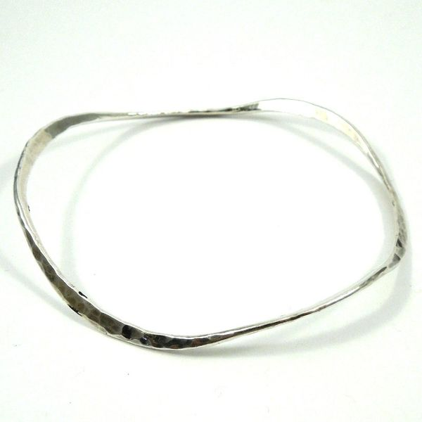 Hammered Silver Bangle Joint Venture Jewelry Cary, NC