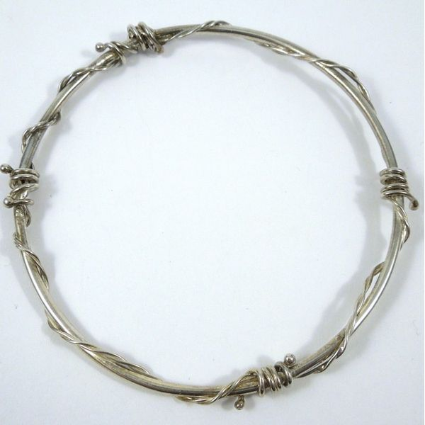 Silver Barbed Wire Bangle Joint Venture Jewelry Cary, NC