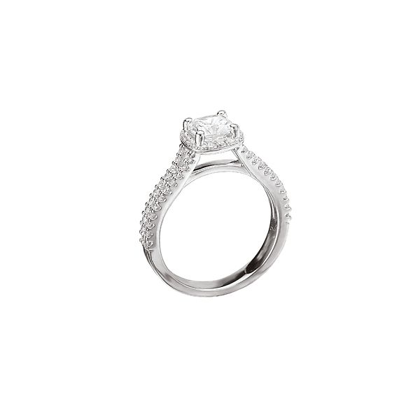 White Gold Split Shank Style Semi-Mount Bridal Ring, 0.34 Total Carat Weight Image 2 J. Schrecker Jewelry Hopkinsville, KY