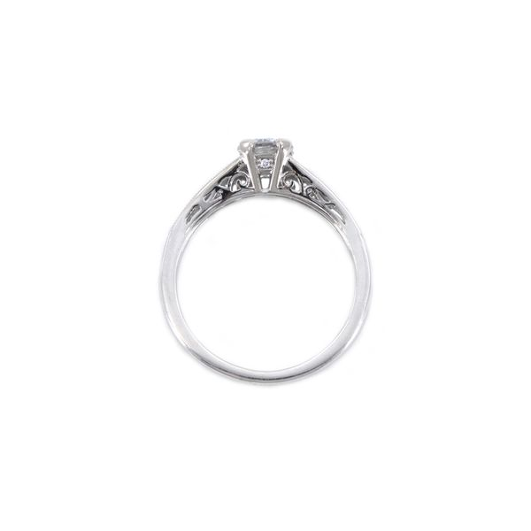 Romance Bridal Engagement Ring with Round Center Diamond Image 2 J. Schrecker Jewelry Hopkinsville, KY
