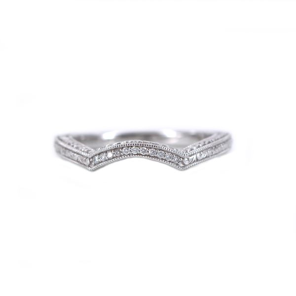 LaVie Diamond Bridal Curved Band Ring with Milgrain Detail J. Schrecker Jewelry Hopkinsville, KY