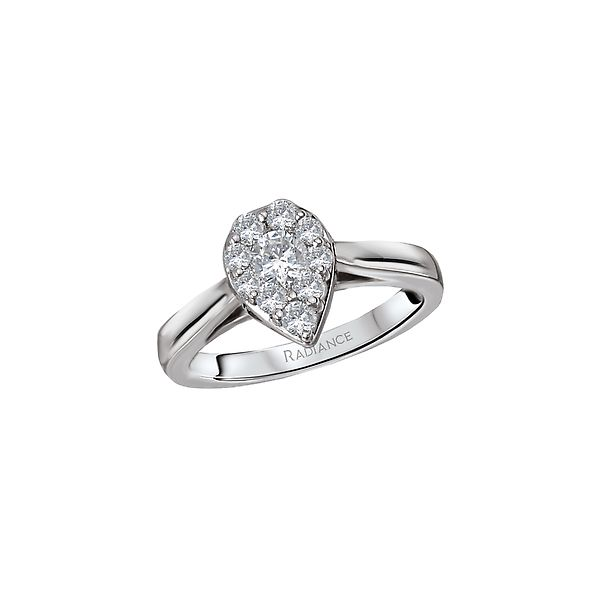 Radiance White Gold Pear Shaped Diamond Cluster Ring J. Schrecker Jewelry Hopkinsville, KY