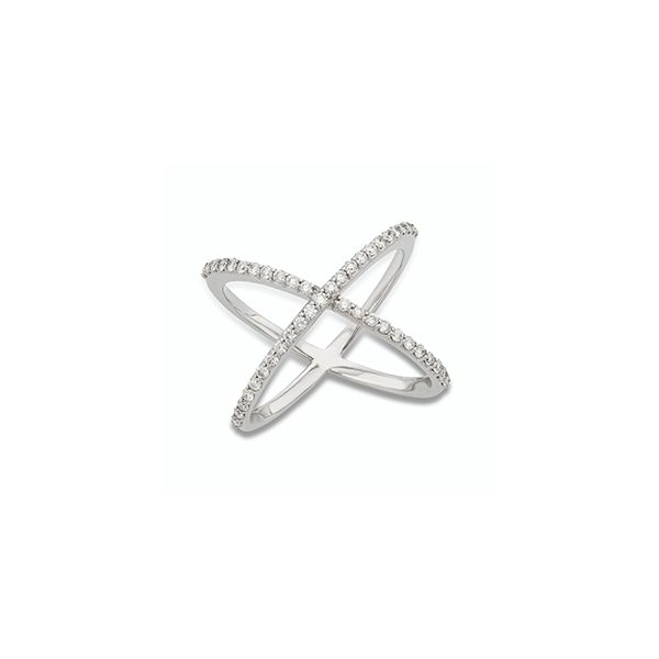 Diamond Geometric Fashion Ring in Crossover X Design J. Schrecker Jewelry Hopkinsville, KY