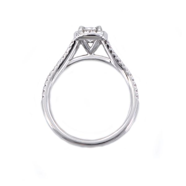 Romance Bridal White Gold Engagement Ring with Round Diamond and Halo Image 2 J. Schrecker Jewelry Hopkinsville, KY