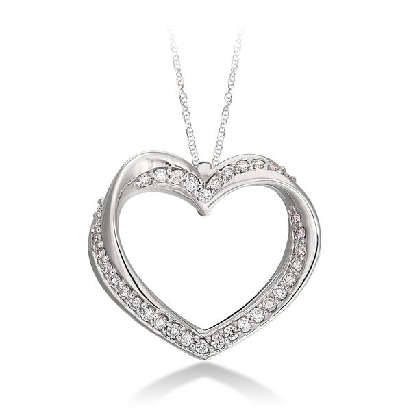 Diamond Heart Pendant in White Gold J. Schrecker Jewelry Hopkinsville, KY