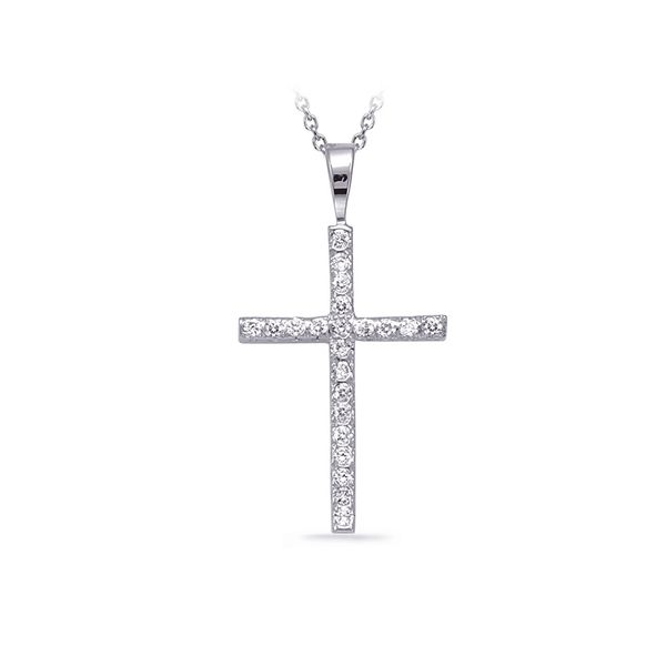 White Gold Diamond Cross Pendant J. Schrecker Jewelry Hopkinsville, KY