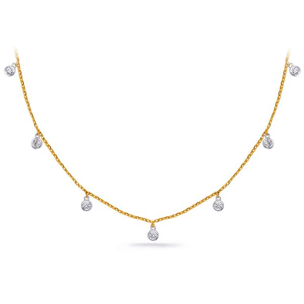 Yellow Gold Diamond Necklace J. Schrecker Jewelry Hopkinsville, KY