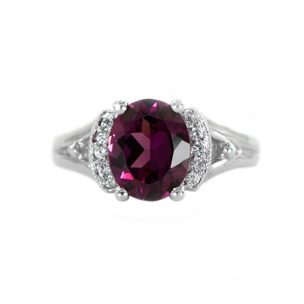 Rhodolite Garnet and Diamond Ring in White Gold J. Schrecker Jewelry Hopkinsville, KY