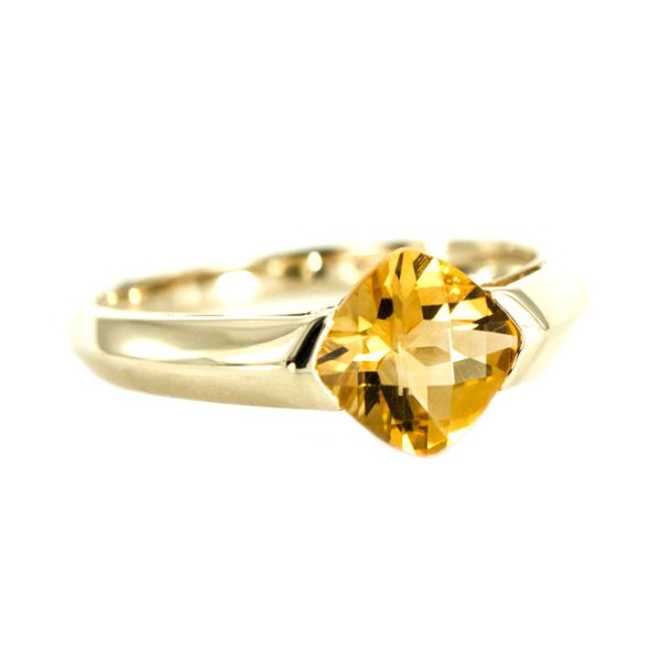 Yellow Gold Ring with Cushion Cut Citrine J. Schrecker Jewelry Hopkinsville, KY