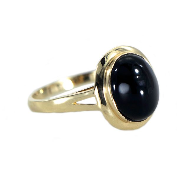 Oval Black Onyx Ring in Yellow Gold J. Schrecker Jewelry Hopkinsville, KY