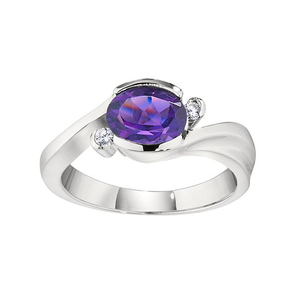 White Gold Amethyst and Diamond Ring J. Schrecker Jewelry Hopkinsville, KY