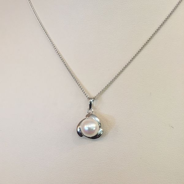 Pearl Pendant in White Gold J. Schrecker Jewelry Hopkinsville, KY