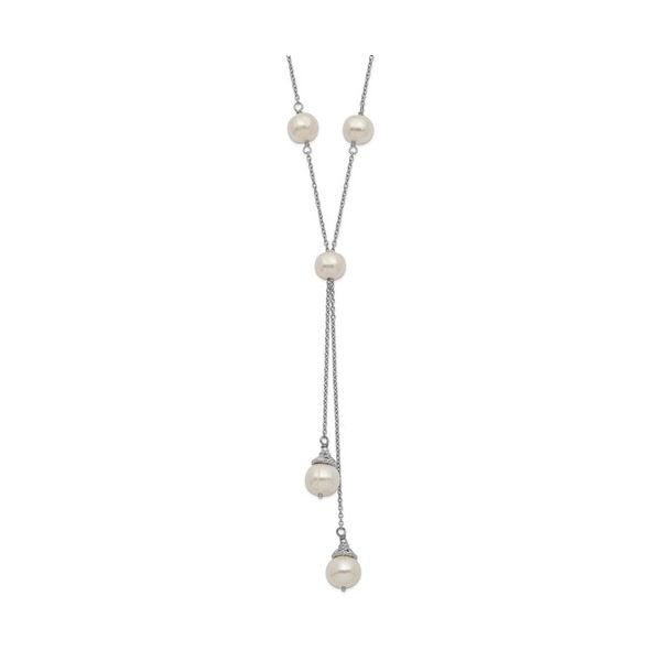 Pearl Drop Necklace on Sterling Silver Chain J. Schrecker Jewelry Hopkinsville, KY