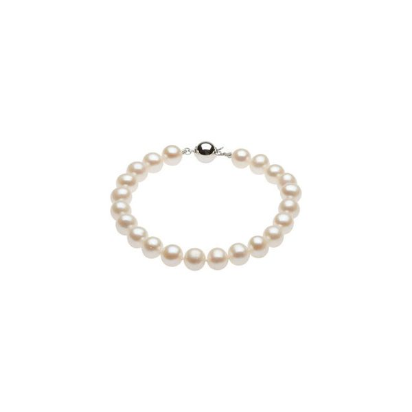 White Freshwater Pearl Bracelet with Silver Clasp J. Schrecker Jewelry Hopkinsville, KY