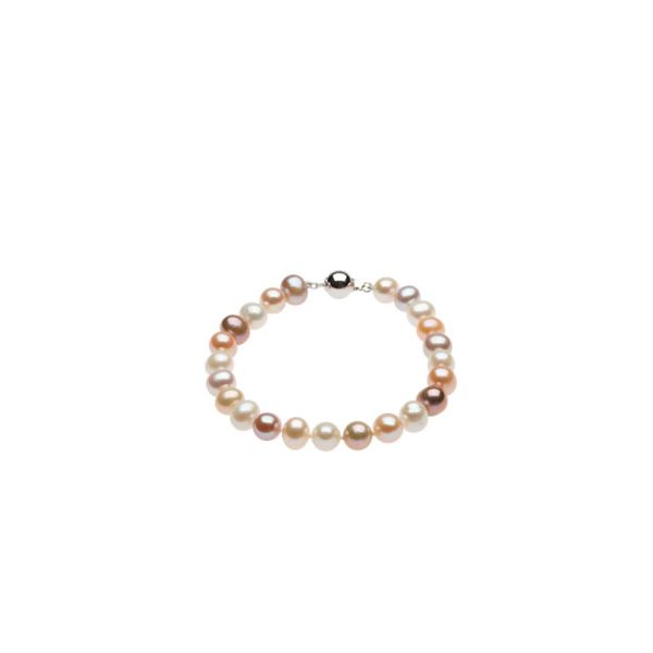 White and Pink Freshwater Pearl Bracelet J. Schrecker Jewelry Hopkinsville, KY