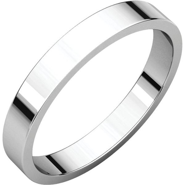 Platinum Wedding Band with Polished Finish J. Schrecker Jewelry Hopkinsville, KY