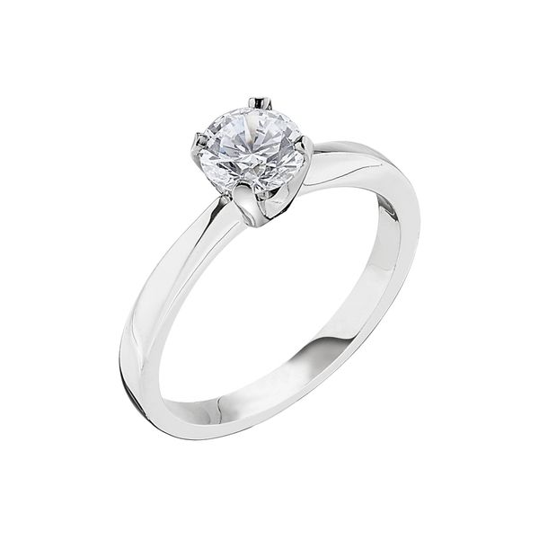 White Gold Die Struck Four Prong Tiffany Style Engagement Ring J. Schrecker Jewelry Hopkinsville, KY