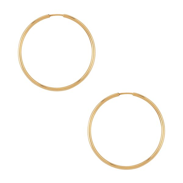 Yellow Gold 1.5 x 25.0 Millimeter Endless Hoop Earrings J. Schrecker Jewelry Hopkinsville, KY