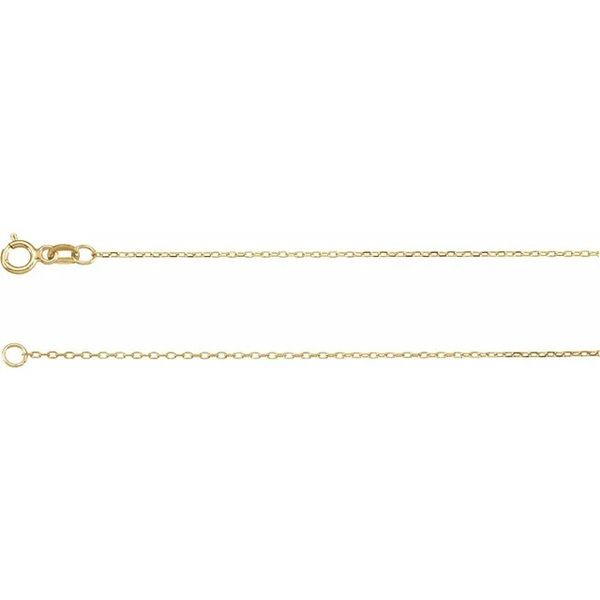 18 Inch Yellow Gold Diamond Cut Cable Chain J. Schrecker Jewelry Hopkinsville, KY