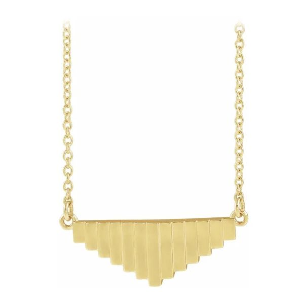 14 Karat Yellow Gold Geometric Necklace J. Schrecker Jewelry Hopkinsville, KY
