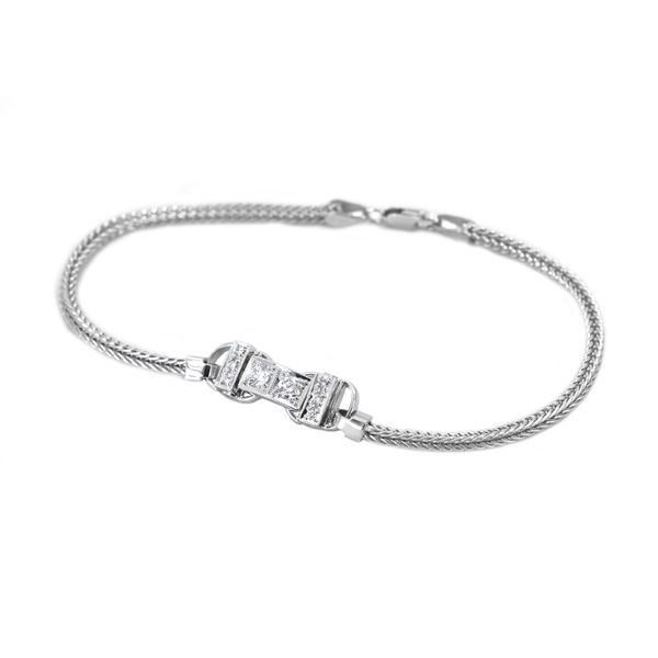 Jabel Add-A-Section Diamond Bracelet in White Gold Image 2 J. Schrecker Jewelry Hopkinsville, KY
