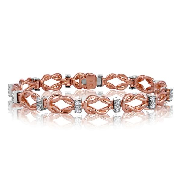 Rose Gold Complete Reef Knot Design Link Add-A-Link Bracelet J. Schrecker Jewelry Hopkinsville, KY