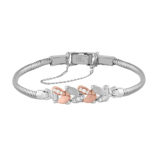 Kaspar & Esh Rose Gold and White Gold Diamond Leaf Add-A-Link Bracelet J. Schrecker Jewelry Hopkinsville, KY