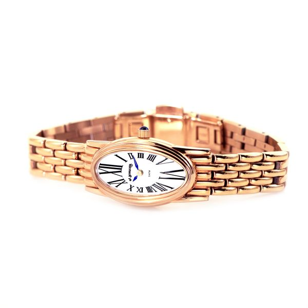 Rose Gold Plated Stainless Steel Watch with an Elongated Oval Case J. Schrecker Jewelry Hopkinsville, KY