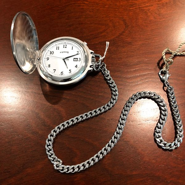 Yellow Pocket Watch with Brushed Finish Case Image 2 J. Schrecker Jewelry Hopkinsville, KY