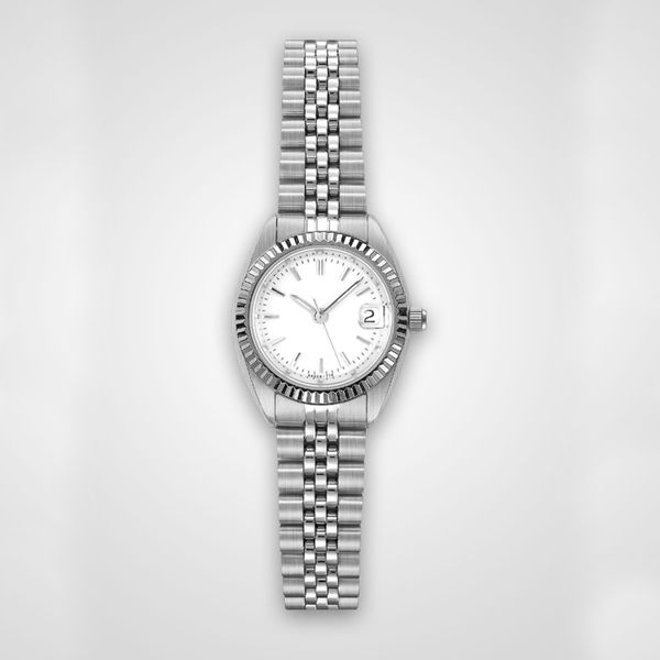 Ladies Stainless Steel Watch with Stainless Steel Bracelet Band J. Schrecker Jewelry Hopkinsville, KY