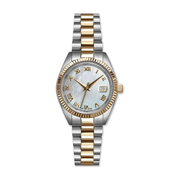 Stainless Steel Two Tone Watch with Mother of Pearl Dial J. Schrecker Jewelry Hopkinsville, KY