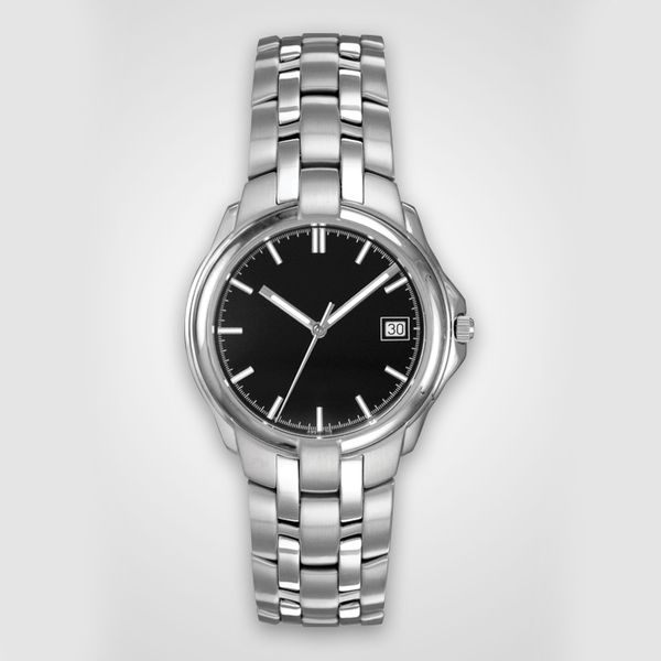 Man's Stainless Steel Watch with Black Dial J. Schrecker Jewelry Hopkinsville, KY