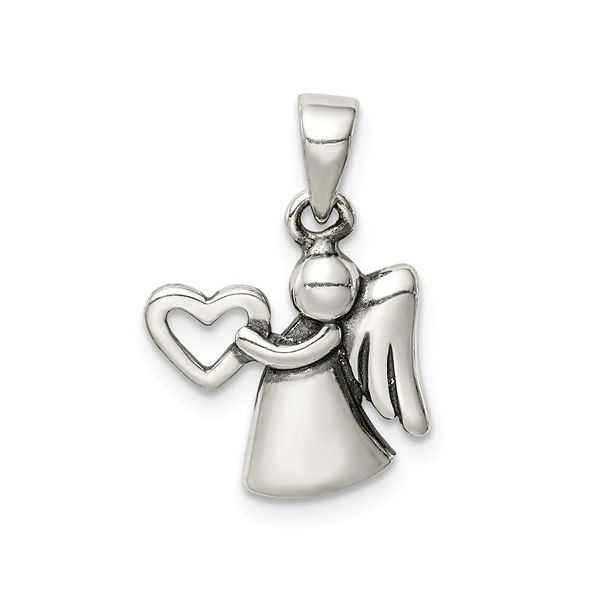 Guardian Angel with Heart Charm J. Schrecker Jewelry Hopkinsville, KY