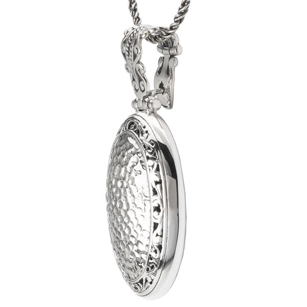 Eleganza Sterling Silver Oval Pendant Image 2 J. Schrecker Jewelry Hopkinsville, KY