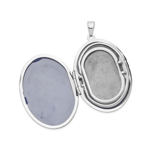 Sterling Silver Large Oval Locket Image 4 J. Schrecker Jewelry Hopkinsville, KY