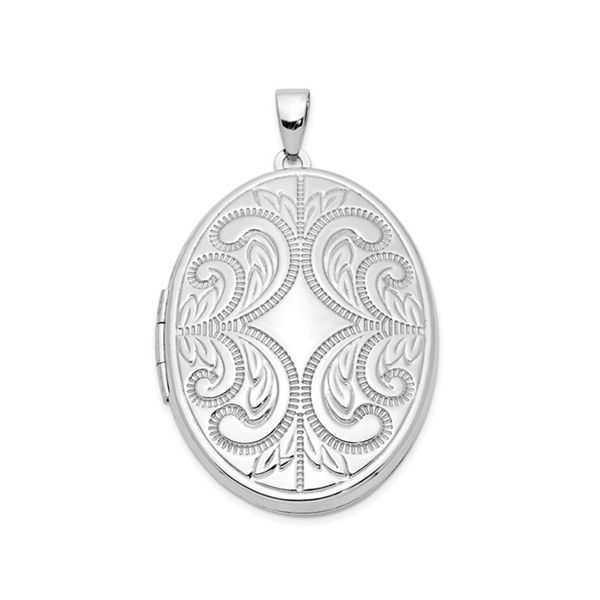 Sterling Silver Large Oval Locket J. Schrecker Jewelry Hopkinsville, KY