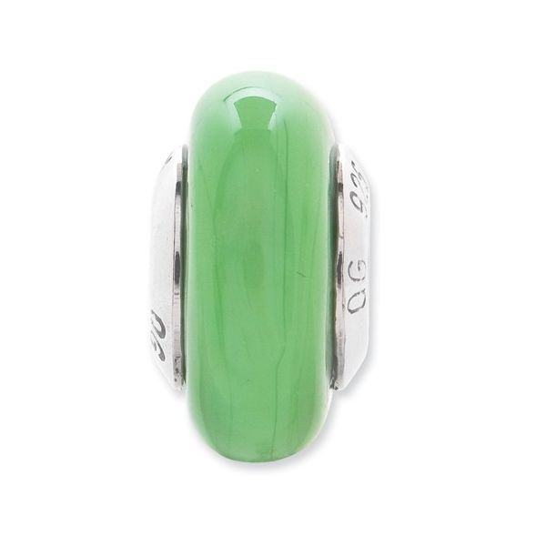 Sterling Silver Green Murano Glass Bead J. Schrecker Jewelry Hopkinsville, KY