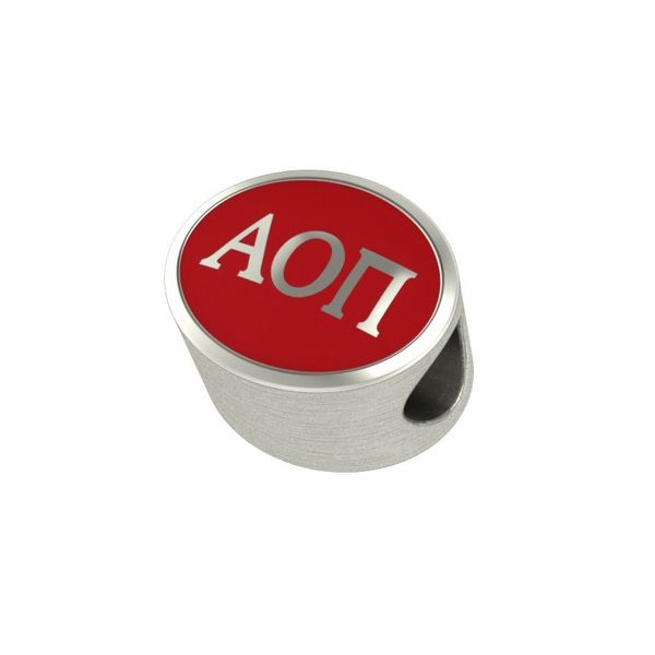 Sterling Silver Alpha Omicron Pi Sorority Bead J. Schrecker Jewelry Hopkinsville, KY