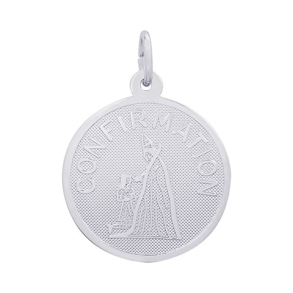 Sterling Silver Round Confirmation Disc Charm J. Schrecker Jewelry Hopkinsville, KY