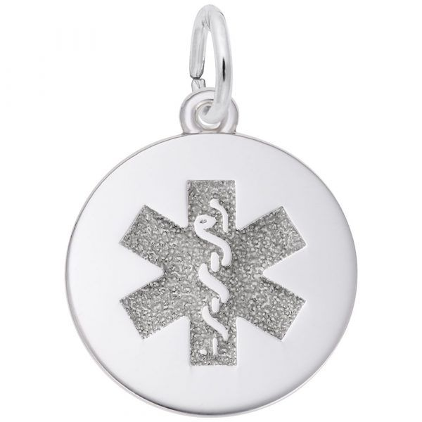 Sterling Silver  Medical Alert Symbol Charm J. Schrecker Jewelry Hopkinsville, KY