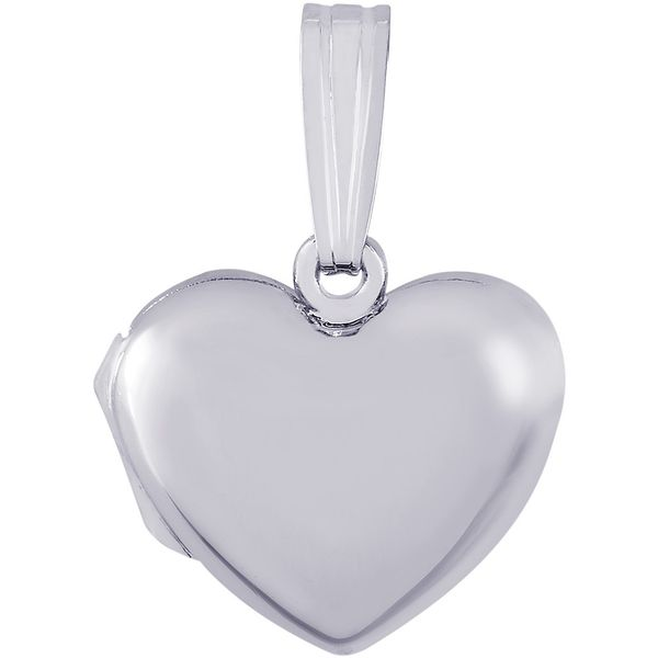 Sterling Silver Heart Shaped Locket with Tapered Bail J. Schrecker Jewelry Hopkinsville, KY