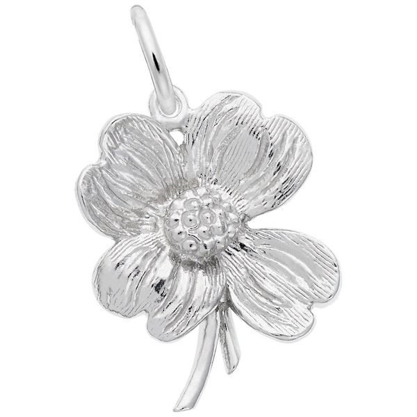 Sterling Silver Dogwood Blossom Charm J. Schrecker Jewelry Hopkinsville, KY