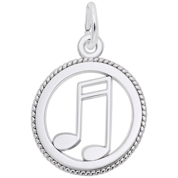 Sterling Silver Music Notes in Circle Charm J. Schrecker Jewelry Hopkinsville, KY
