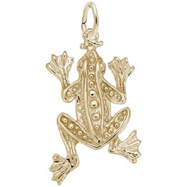 Gold Plated Sterling Silver Frog Charm J. Schrecker Jewelry Hopkinsville, KY