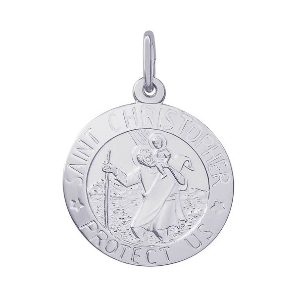 Sterling Silver Saint Christopher Medal Charm J. Schrecker Jewelry Hopkinsville, KY