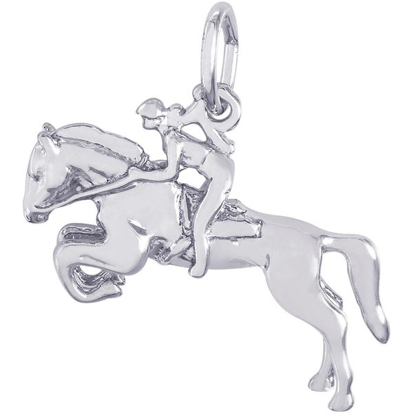 Sterling Silver Horse with Rider Charm J. Schrecker Jewelry Hopkinsville, KY