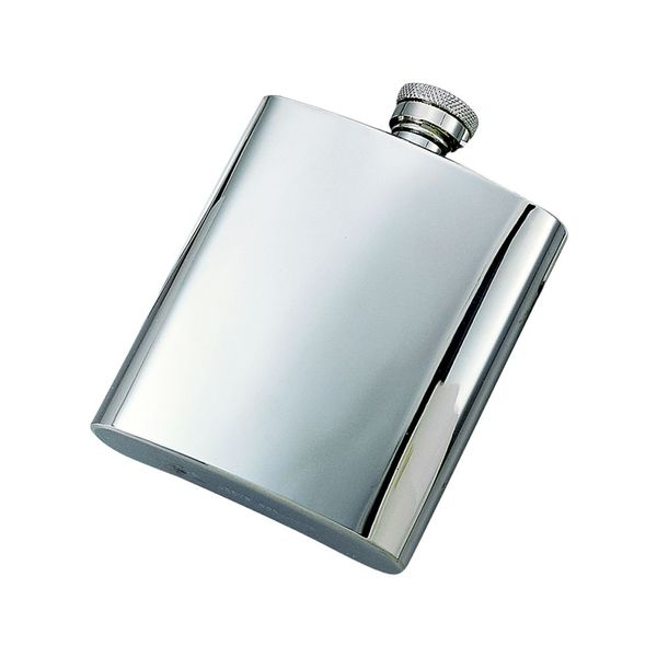 Polished Stainless Steel Flask J. Schrecker Jewelry Hopkinsville, KY